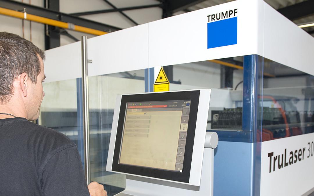 Neue Laserschneidmaschine TruLaser 3030 (L20) in Betrieb!